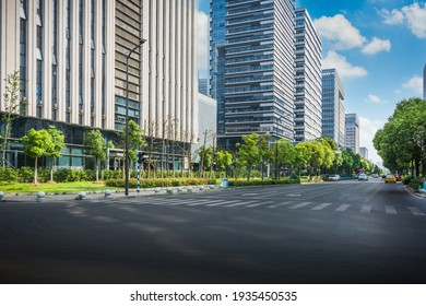 Cityscape office buildings with modern corporate architecture - business and success concept - Shutterstock ID 1935450535