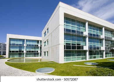 Cityscape office buildings with modern corporate architecture - business and success concept