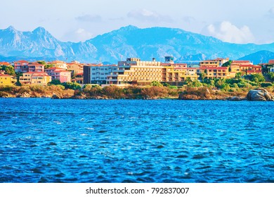 Cityscape of Olbia with Mediterranean Sea, Sardinia, Italy