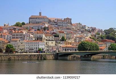 the cityscape of old portuguese city Coimbra