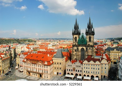 cityscape of old prague