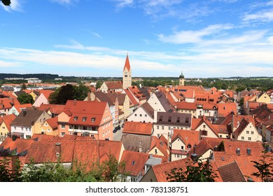 Cityscape of old town Kaufbeuren in Bavaria, Germany