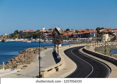 Cityscape of old town of Nessebar