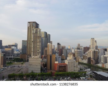 Cityscape of Osaka City, Japan