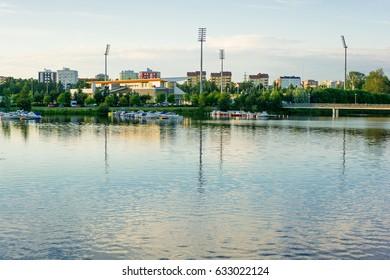 Cityscape of Oulu (Finland)