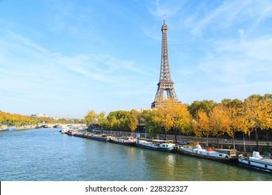 A cityscape of Paris with Eiffel Tower, Paris, France