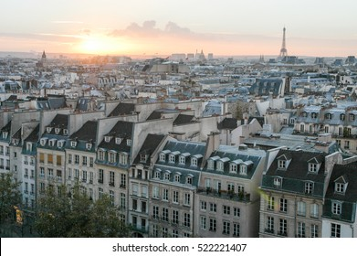 Cityscape of Paris seen from above