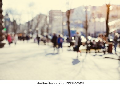 Cityscape. People. Blurred Background