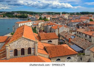 Cityscape of Porec, Istria region, Croatia