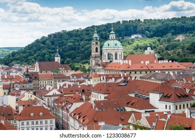 Cityscape of Prague with St. Nicholas Church