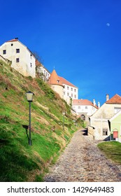 Cityscape in Ptuj Castle in Slovenia. Architecture in Slovenija. Travel