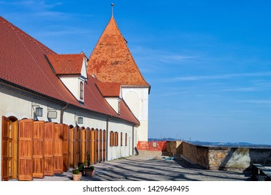 Cityscape in Ptuj Castle of Slovenia. Architecture in Slovenija. Travel