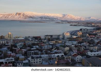 The cityscape of Reykjavik (Iceland)