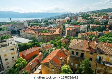 Cityscape of Rijeka in Croatia