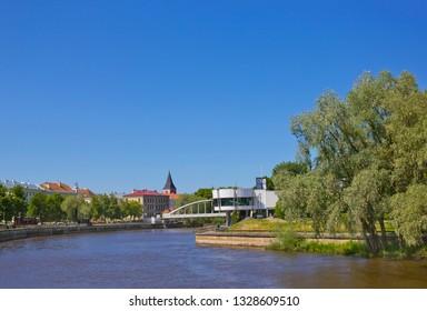 Cityscape with river in Tartu, Estonia