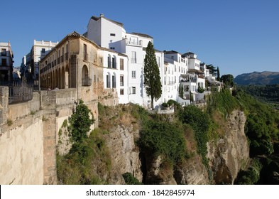 Cityscape with rocks in Ronda, Andalucia, Spain