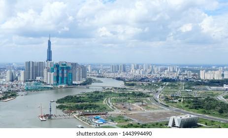 Cityscape of Saigon, Ho Chi Minh City