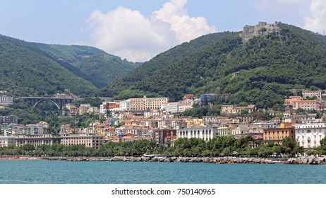 Cityscape of Salerno Town in South Italy