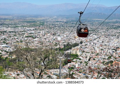 Cityscape of Salta City in Salta Province, Northern Argentina