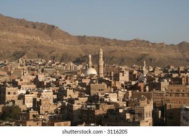 Cityscape Sanaa City Yemen