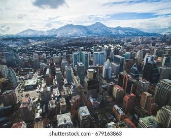 Cityscape of Santiago de Chile at Winter.