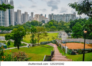 The cityscape as seen from Fort Canning in Singapore