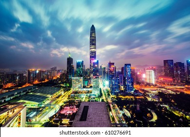 cityscape in the shenzhen,china