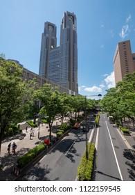 Cityscape in Shinjuku, Tokyo