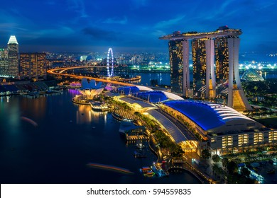Cityscape of Singapore city, Singapore