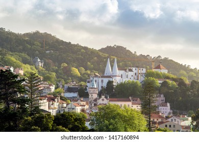 Cityscape of Sintra with National Palace, Portugal