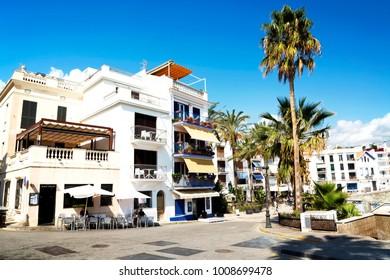 Cityscape of Sitges in 21 September 2017, Spain ( Barcelona )