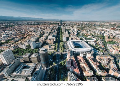 Cityscape skyline view of Madrid