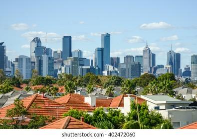 Cityscape / skyline view of Melbourne, Australia