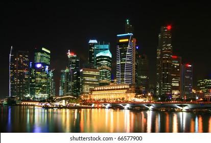 cityscape of skyscraper in Singapore business district
