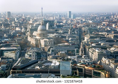 Cityscape with St Paul's Cathedral in London (England)