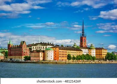 Cityscape of Stockholm (Sweden), HDR-technique