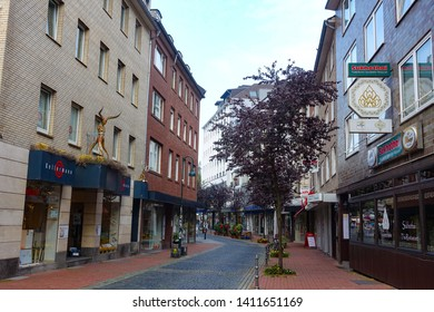 Cityscape of streets and buildings in Aachen, Aachen, Germany, 30.08.2018