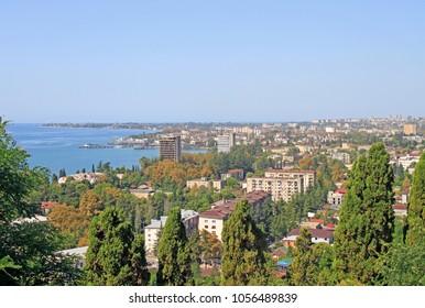 the cityscape of Sukhumi - the main city of Abkhazia