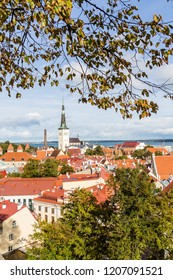 Cityscape of Talinn, capital city of Estonia