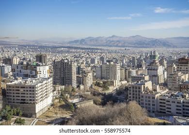 cityscape of Tehran