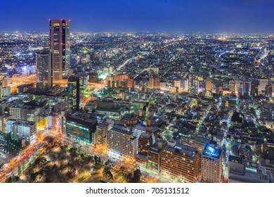 Cityscape of Tokyo city, japan. Aerial skyscraper view of office building and downtown of tokyo city background. Tokyo is metropolis and center of new world's modern business, Shinjuku, Tokyo, japan