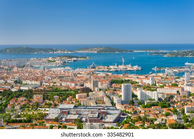 Cityscape of Toulon in a summer day