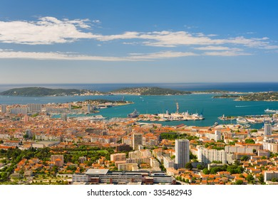 Cityscape of Toulon in a summer morning