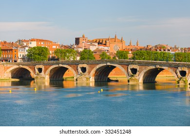 Cityscape of Toulouse in a summer day
