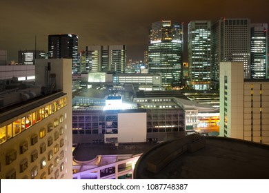 Cityscape toward Shinagawa Intercity, Shinagawa, Tokyo, Kanto Region, Honshu, Japan