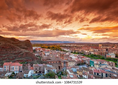 Cityscape of the town of Najera, La Rioja, Spain