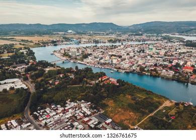 Cityscape of Valdivia, Chile