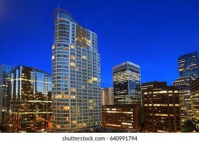 Cityscape of Vancouver Night View