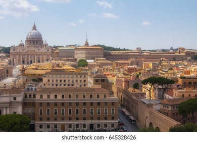 cityscape of the Vatican and the basilica, Italy