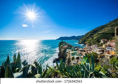Cityscape of Vernazza, Liguria, Cinque terre, Italy